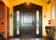 China Magahongany Front Main Solid Wood Replacement Doors Finished Surface Treatment factory