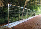 China Modern Balcony Stainless Steel Cable Deck Railing System High Pressure Double Crank company