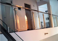 Easy Installation Apartment Balcony Railing Stainless Steel Building Railing Post Glass