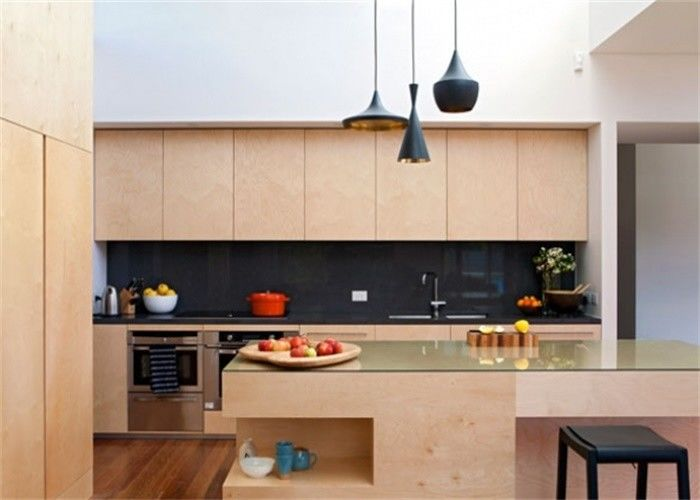American Style MDF Kitchen Cabinets Lacquer Melamine ...