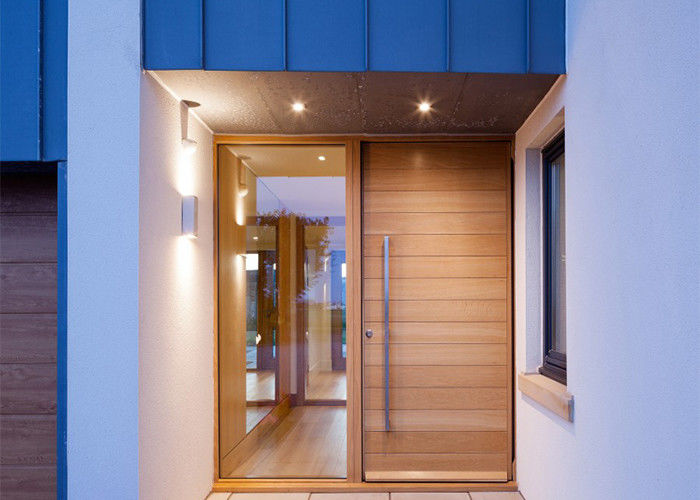 Commercial Solid Wood Interior Doors With Glass Front For Homes