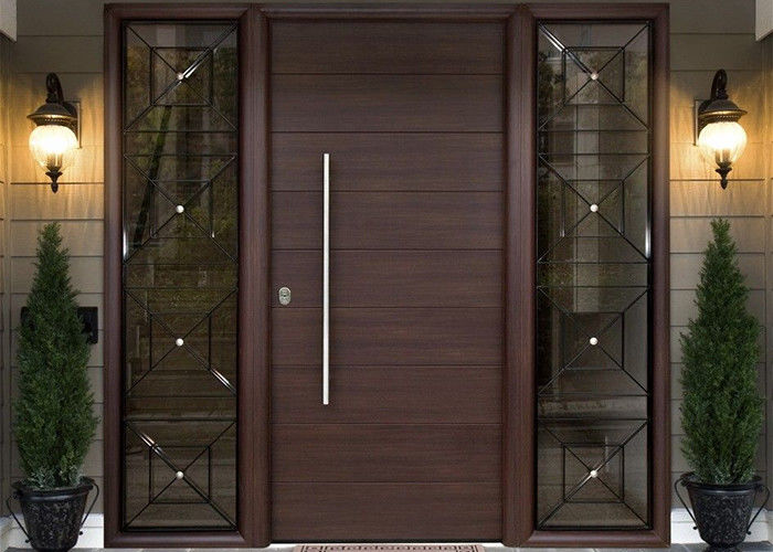 Simple Modern Solid Oak External Front Doors Decorative Panel Design