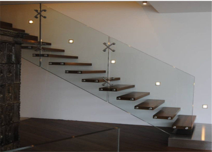 China Prima Building Floating Steps Staircase With Prefab Steel And Wood  Construction Materials Supplier
