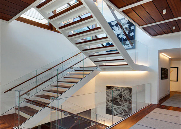 Modern Residential Straight Flight Staircase U Shaped Staircase Design