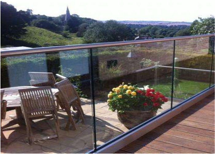 Aluminum External Frameless Glass Balustrade Channel