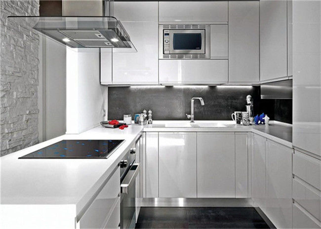 Modern Design MDF MDF Kitchen Cabinets Customized Style Furniture Environmentally Friendly