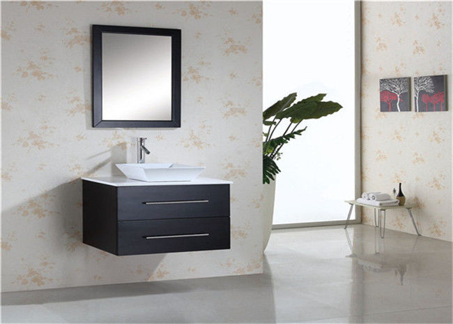 Hanging Prima Vanity Waterproof Bathroom Cabinets With Mounted Sink And Mirror
