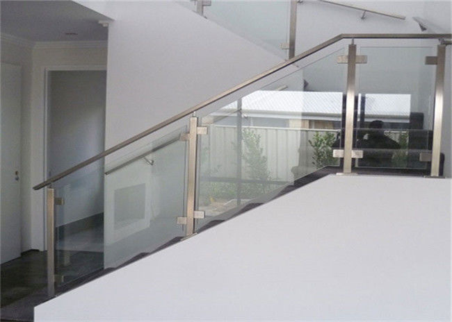 Top Mount Stainless And Glass Balustrade , Staircase Steel ...
