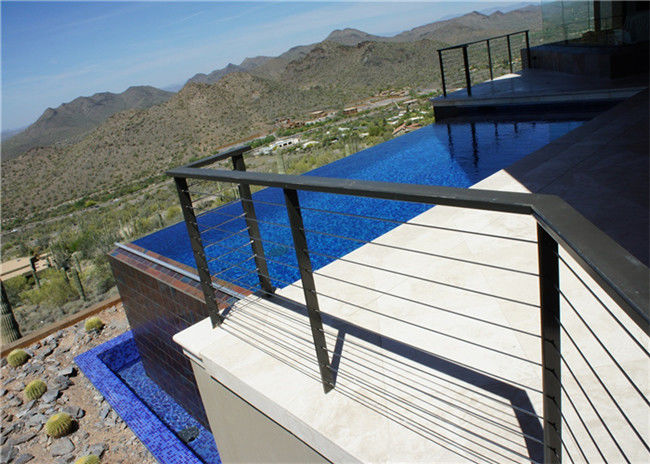 Easy Install Stainless Steel Wire Cable Railing System With Square ...