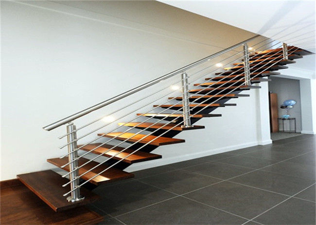 DIY Installation Ss Railing System With Brushed Stainless Steel Stair  Handrail