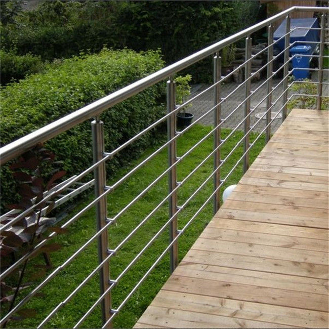 Terrace Stainless Steel Rod Balustrade With 8mm / 12mm ...