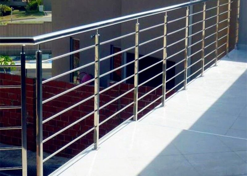 Decking Metal Balustrade Stainless Steel Railing , 316 Stainless Steel  Stair Railing