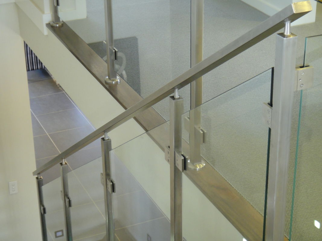 Fixing Balustrade Steel And Glass Stair Railing No Welding