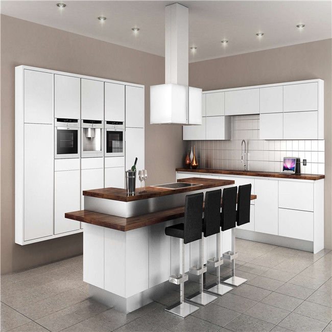 White Kitchen Cabinets For Sale: Modern Solid Wood White Kitchen Cabinets MDF Board With