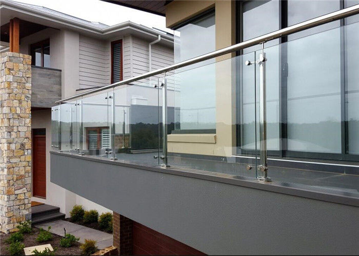 Customized 316 Stainless Steel And Glass Balcony Railings ...