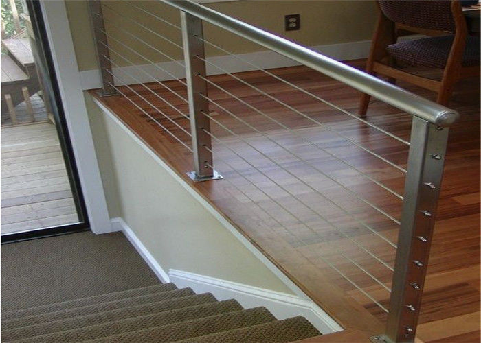 Diy Wire Rope Stainless Steel Stair Balustrade Outdoor