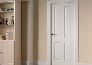 Commercial OAK Solid Wood Composite Doors , Single Swing Shower Door