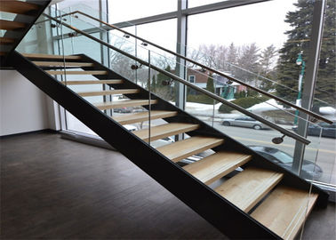Modern Straight Contemporary Wood Stairs