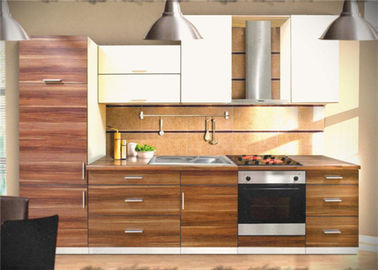 China PRIMA Customized MDF Kitchen Cabinets With Good Green Color Laminate  Finish Distributor