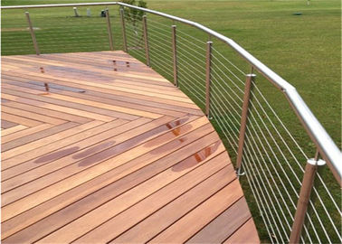 China Metal Rod Building Railing Exterior Stainless Steel Cable Deck Railing Systems factory