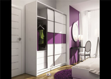 China Particle Board Walk In Wardrobe Eco - Friendly With Mirror Sliding Door distributor