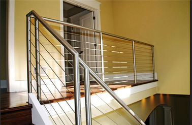 China Safety Stainless Steel Railing Easy Installation With Round / Square Shape Post distributor