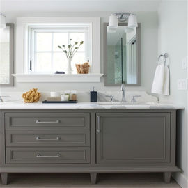 China Customized Bathroom Prima Vanity Furniture Modern Design With Double Sink distributor