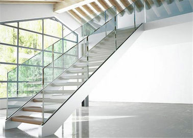 China Indoor Stair Frameless Glass Railing U Channel Aluminium Alloy Material factory