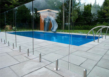 China Mirror / Satin Finish Swimming Pool Glass Fence Stainless Steel Spigot Railing distributor