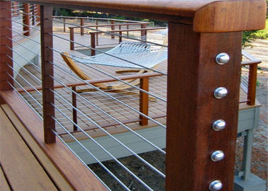 China Safety Protection Balcony Stainless Steel Cable Deck Railing Systems For House factory