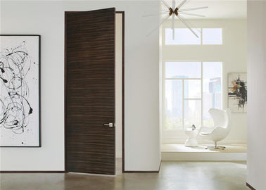 China Laminate Coated Mdf Wooden Composite Front Doors Flush Interior PVC Swing Open Style distributor