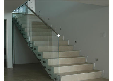 China Floor Mounted Stainless Steel Glass Balustrade , Standoff Building Deck Railing distributor