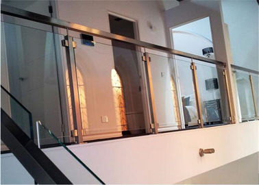 China Easy Installation Apartment Balcony Railing Stainless Steel Building Railing Post Glass distributor