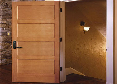 China Customized Inside Solid Wood Doors Swing Open Style Durable Hardware Long Lifespan distributor