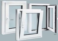 Thermal Break Custom Aluminium Windows Wood Grain Finish
