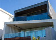 Tempered Frameless Glass Railing Customized Height , 1200mm Maximum Centres