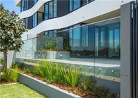 Residential Frameless Glass Railing , Frameless Glass Balcony Balustrade Systems