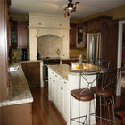 Contemporary Furniture Solid Hardwood Kitchen Cabinets Optional Surface Treatment