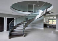 Interior Building Curved Stairs Screws Installation Contemporary Residential Stairs