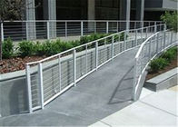 Modern Balcony Stainless Steel Cable Deck Railing System High Pressure Double Crank