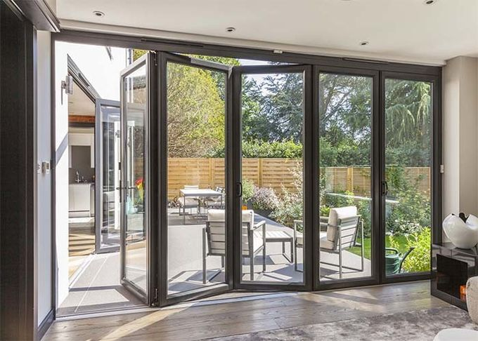 Lowes Commercial Aluminium Doors Exterior Sliding Folding