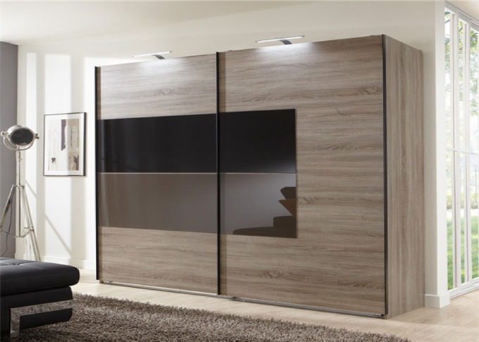 Free Standing Hinged Door Wardrobes Bedroom Shutter Door Wardrobe For Family
