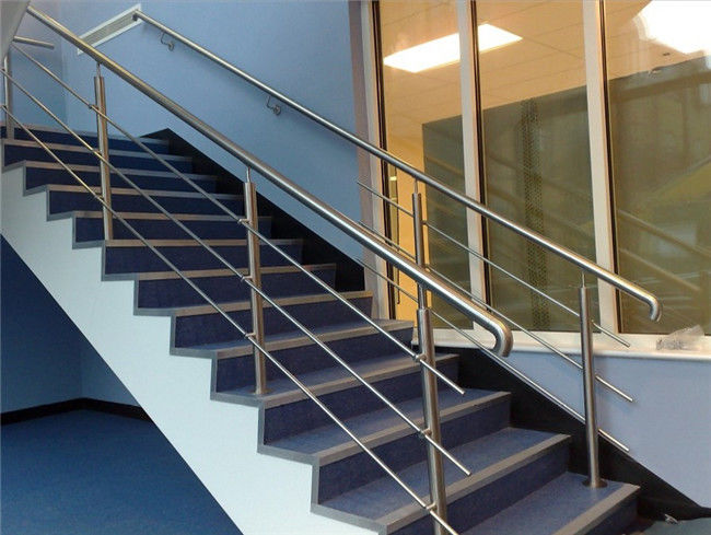Round / Square Post Stainless Steel Railing Rod Bar Optional For Balcony / Staircase